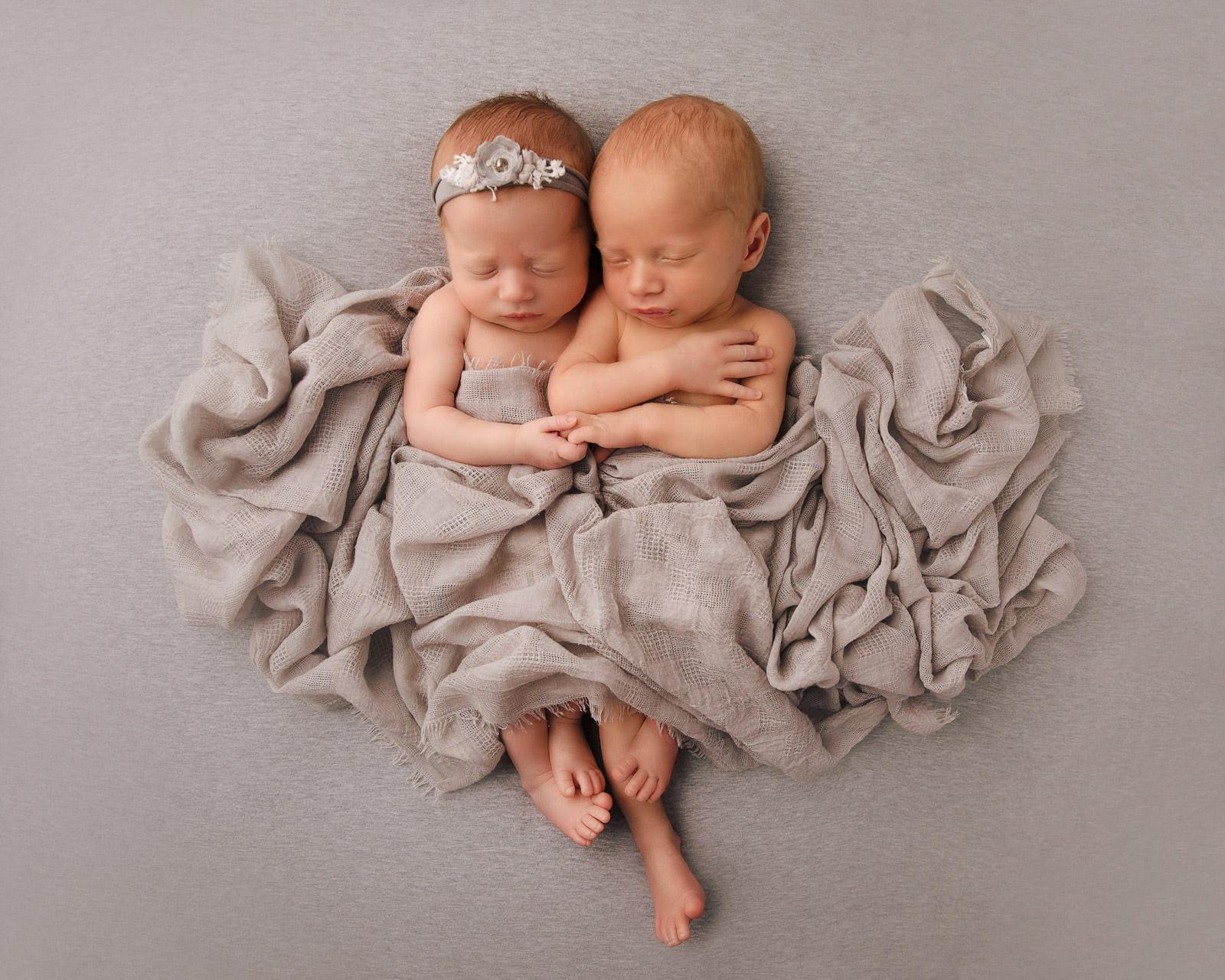 Adorable Newborn Rainbow Twins 8