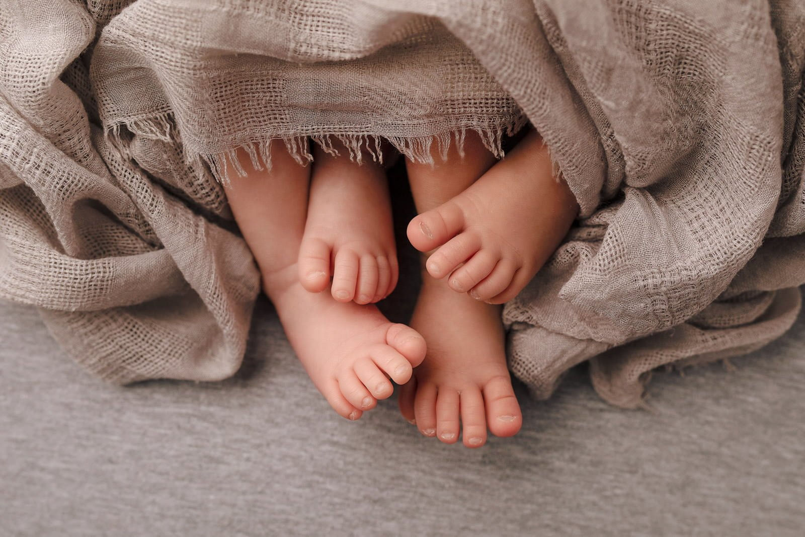 Adorable Newborn Rainbow Twins 9