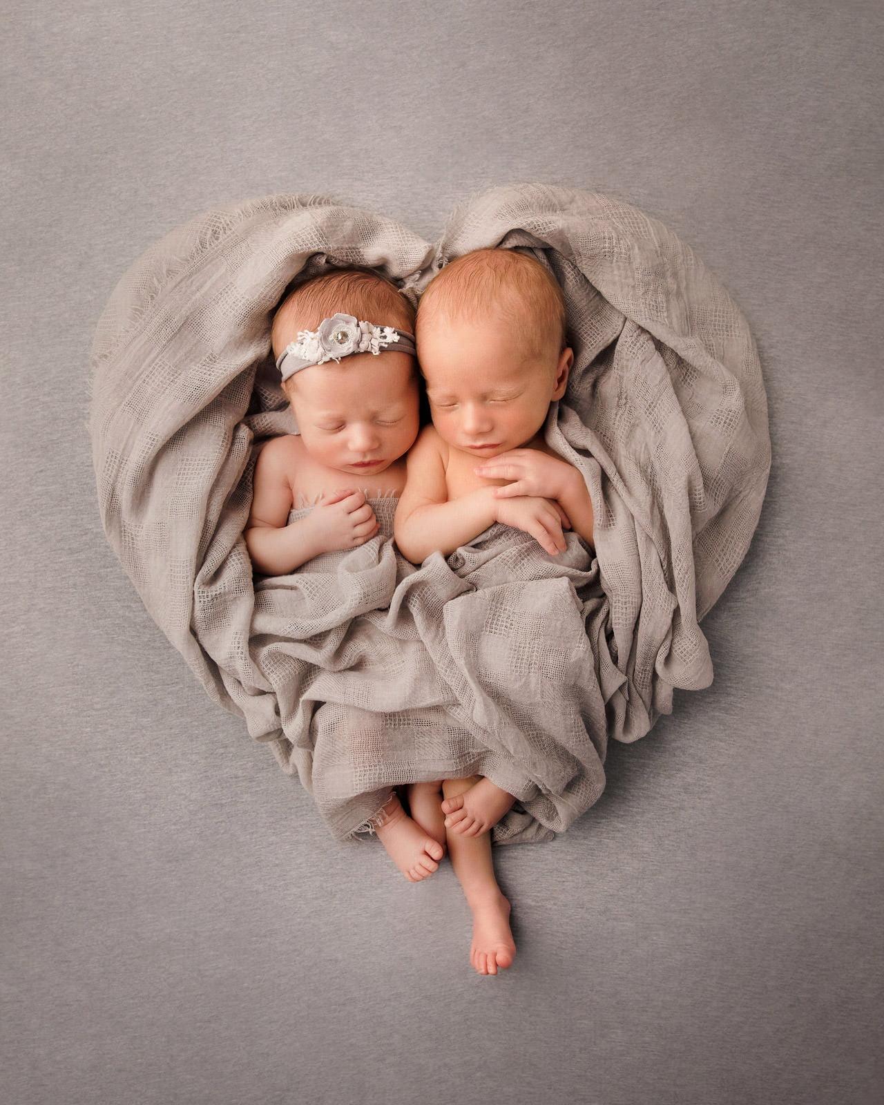 Adorable Newborn Rainbow Twins 1