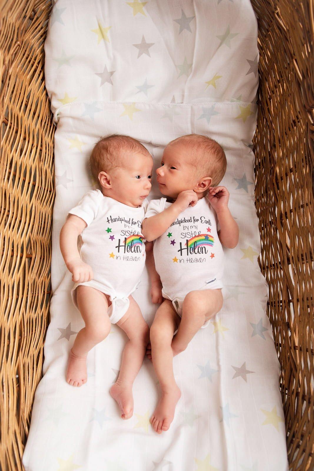 Adorable Newborn Rainbow Twins 5