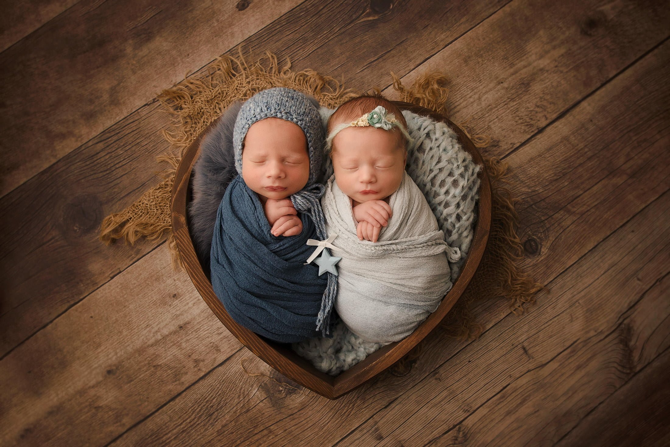 Adorable Newborn Rainbow Twins 3